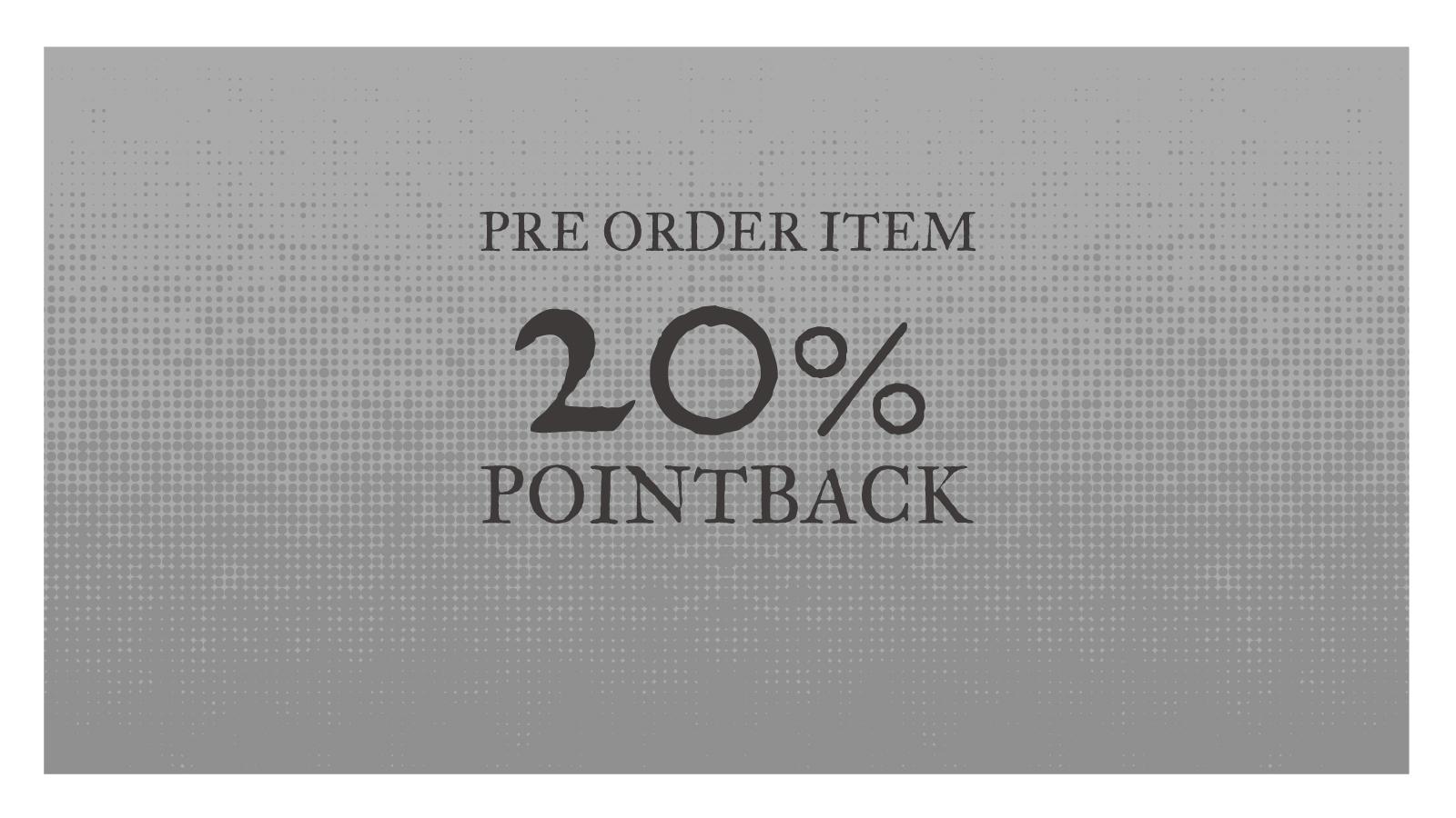 予約商品20%POINTBACK!